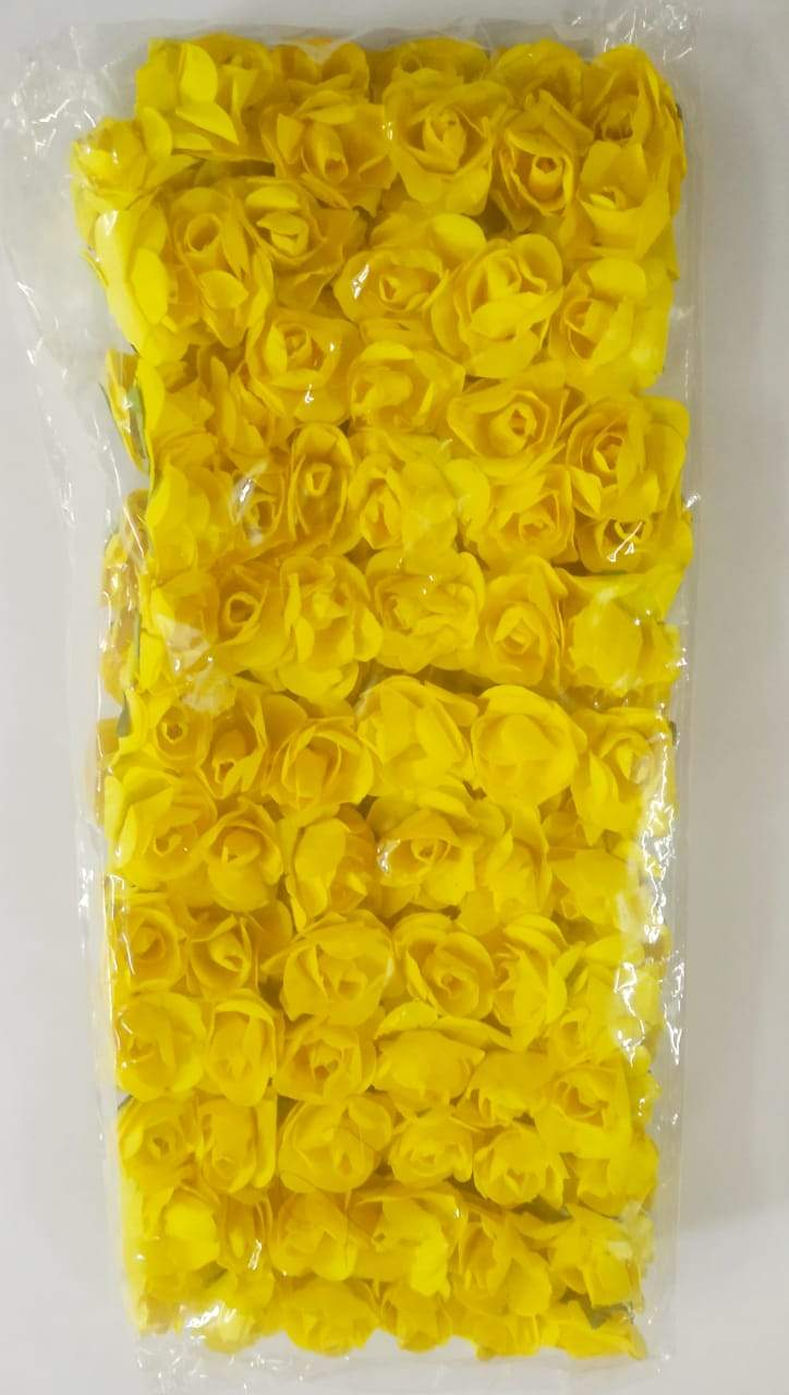 Fabric Rose/ Flower- Yellow Necklace Link Accessories