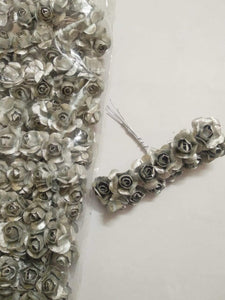 Fabric Rose/ Flower- Silver Necklace Link Accessories