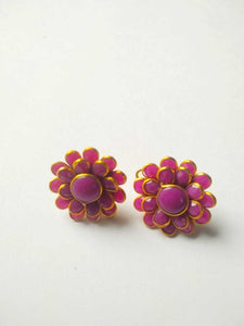 Double Layer Paachi Stud D Pink & Jhumka