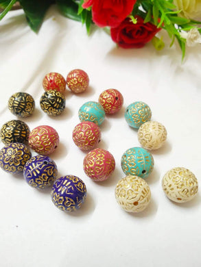 Embroidery/dress Designs/meena Beads- Type 6 (Round) Pearl Rakhi Beads