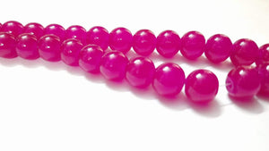 10Mm Glass Beads D Pink