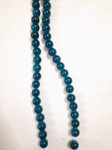 10Mm Glass Beads Turquoise Blue