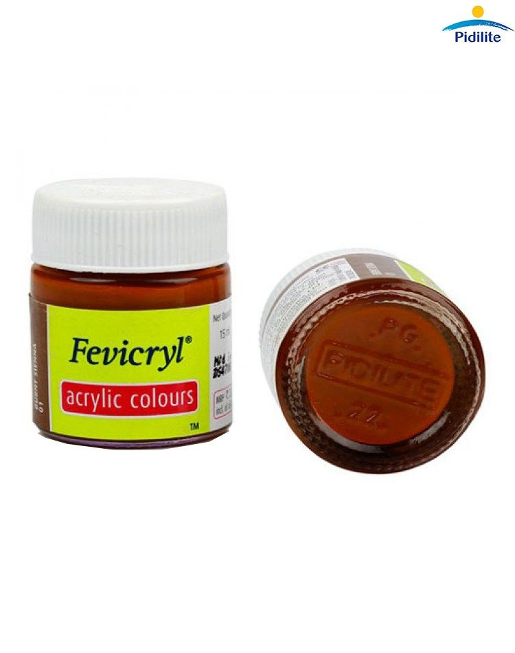 Fevicryl Acrylic Colors- Burnt Sienna Fabric Glue & Adhesives