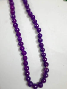 10Mm Glass Beads Violet/