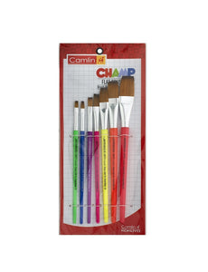 Camlin Champ Flast Brush Set - Pack Of 7 (Multicolor) Drawing Materials