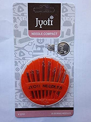 Jyoti Needle Compact (30Needles)/jyoti Hand Sewing (Embroidery Ball Point Twin Pointed Sharps
