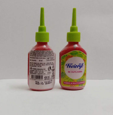 Fevicryl 3D Outliners - Red Fabric Glue & Adhesives