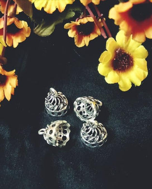 Antique Silver Color Jumka Metal Jhumkas