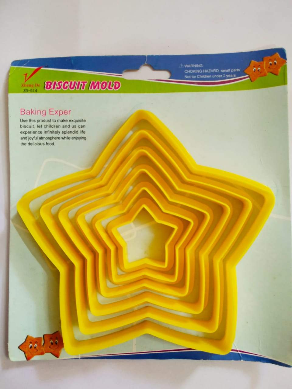 Star Shape Cookie Cutters Mcirco Plastic Cutter Set -Shaped Biscuit Multi-Size Shapes For Kids