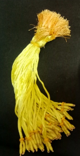 Fancy Rope Yellow Necklace Back Ropes
