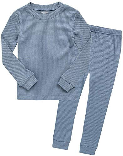 Denim Blue Rib Knit Set