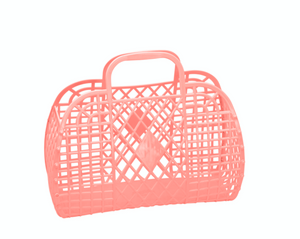Peach Small Retro Basket