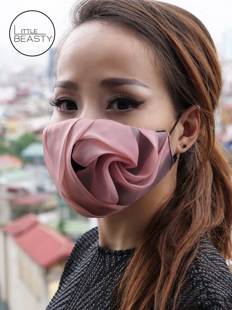 Pink Rose Luxury Facemask - Little Beasty
