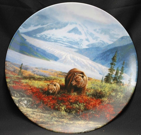 Autumn Grandeur Collector's Plate #10219A of Alaska: The Last Frontier Bradford Exchange CP023