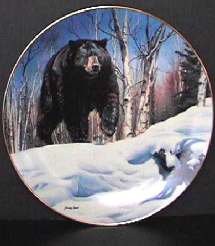 Breaking Cover Collector's Plate #1767A of Bear Tracks at Bradford Exchange CP014