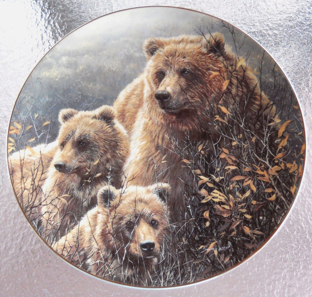 Denali Family Collector's Plate #1408B of Bear Tracks at Bradford Exchange CP016