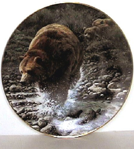 Their First Season Collector's Plate #802A of Bear Tracks at Bradford Exchange CP017