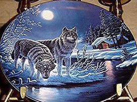 Midnight Guard Collector's Plate #849B of Nightwatch: The Wolf at Bradford Exchange CP031