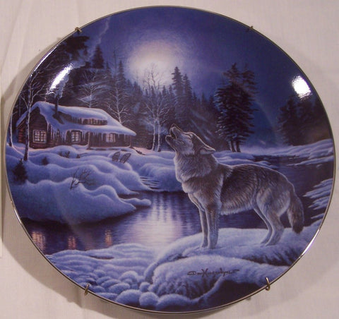 Moonlight Serenade Collector's Plate #4870A of Nightwatch: The Wolf at Bradford Exchange CP032