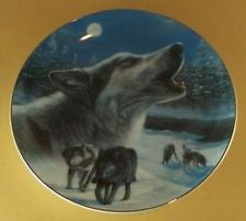 Midnight Harmony Collector's Plate #8992A of Realm Of The Wolf at Bradford Exchange CP036