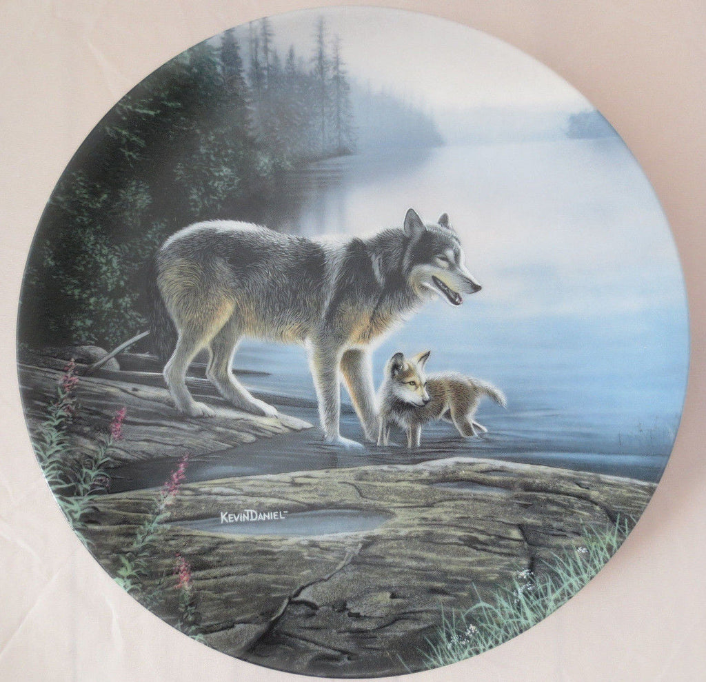 Morning Mist Collector's Plate #4886B of Call Of The Wilderness at Bradford Exchange CP045