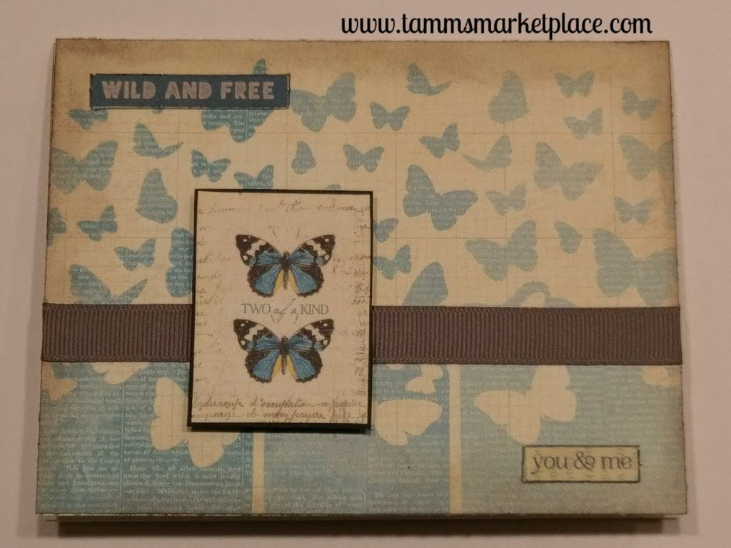 """Wild and Free, You & Me"" Handmade Card QC0001"