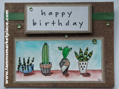 Happy Birthday Cactus Line-Up card