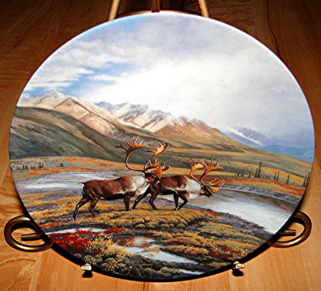 Down The Trail Collector's Plate #5769A of Alaska: The Last Frontier Bradford Exchange CP019