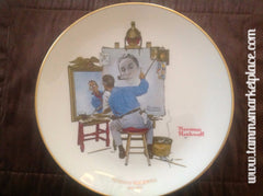 "Vintage Norman Rockwell Collector's Plate ""Triple Self Portrait"" measures 10.75"" diameter ECO002"