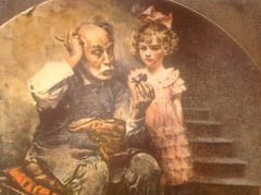"Vintage Norman Rockwell Collector's Plate ""The Cobbler"" measures 8.5"" diameter ECO004"
