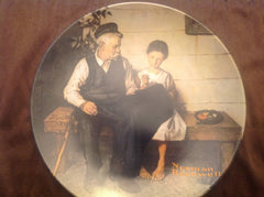 "Vintage Norman Rockwell Collector's Plate ""The Lighthouse Keeper's Daughter"" measures 8.5"" diameter ECO005"