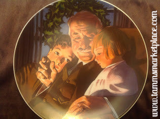 "Vintage Norman Rockwell Collector's Plate ""Christmas Story"" measures 8.5"" diameter ECO006"