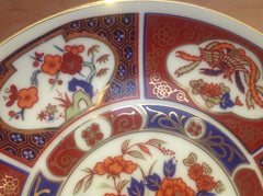 "Vintage Japan Collector's Plate w/Blue Wagon carrying Flowers & Gold Painted Trim 6.25"" Diameter ECO014"