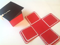 Pop Up Graduation Cap Invitation Box with 8 inside panels Set of 10 SPECIAL ORDER MKSP001