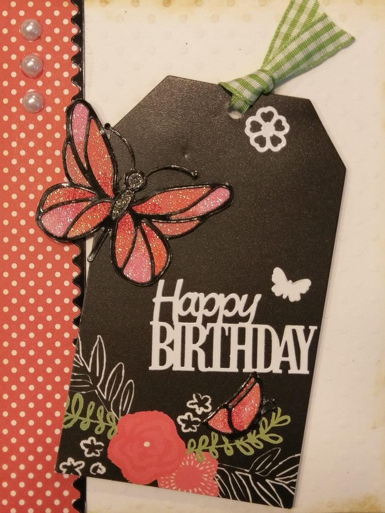 Happy Birthday Butterfly Card JQC503