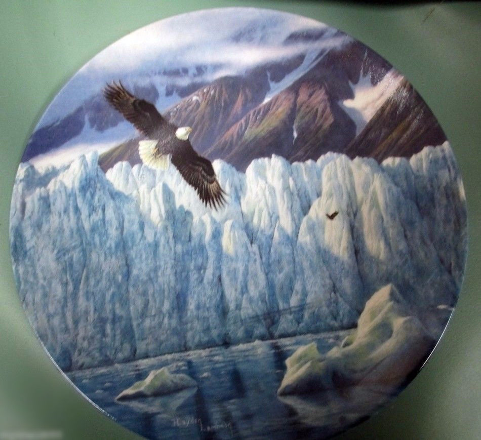 Icy Majesty Collector's Plate #2247B of Alaska: The Last Frontier Bradford Exchange CP018