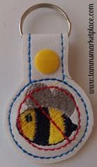 Embroidered Keychain for Bee Allergy JAY005