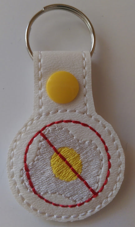 Embroidered Keychain for Egg Allergy JAY009