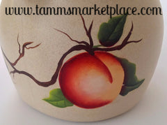 Hand Painted Peach Ceramic Pitcher MKA013