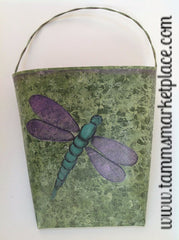 Hand Painted Dragonfly Letter Holder MKA016