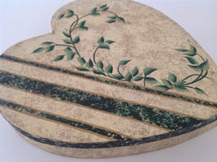 Hand Painted Heart Shaped Box MKA026