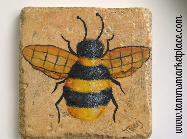 Bumble Bee Ceramic Tile Coasters Set Of 4 Mkt001 Tamm S
