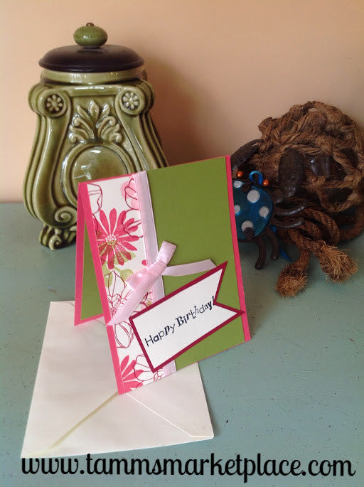 "Limited Edition from the ""Ivory Set"" Happy Birthday Card with Ivory Envelope MKC006"