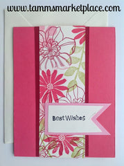 "Limited Edition from the ""Ivory Set"" Best Wishes Card with Ivory Envelope MKC007"