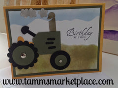 Happy Birthday Tractor Card MKC024