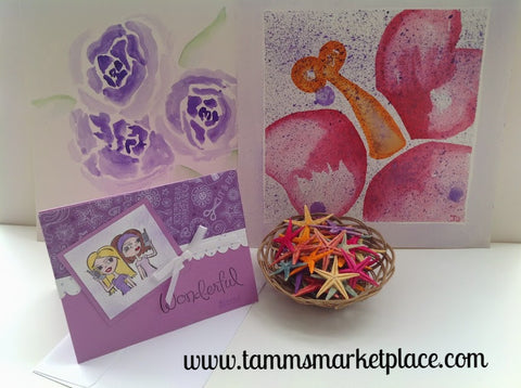 Wonderful Friend Card in Lavender Purple MKC025