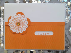 Orange Happy For You Card MKC034