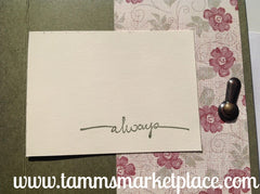 """Always"" Handmade Greeting Card with Hinge MKC035"
