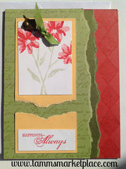 "Hand Make ""Happiness Always"" Card MKC036"
