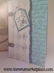 Thanks So Much Handmade Card with Sheer White Ribbon Accent MKC039